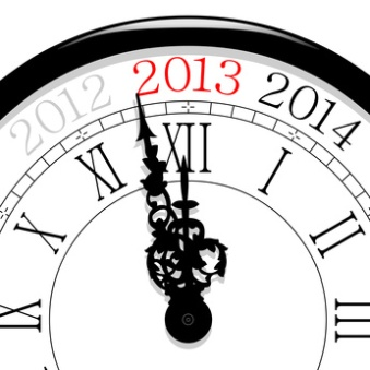 Nouvel an horloge à 2013